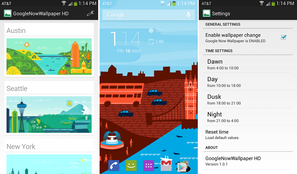 Use the Google Now Backgrounds as Your Wallpaper With This App Droid 1000x587