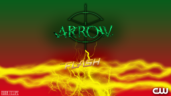 Arrow The Flash Wallpaper on Behance 600x338