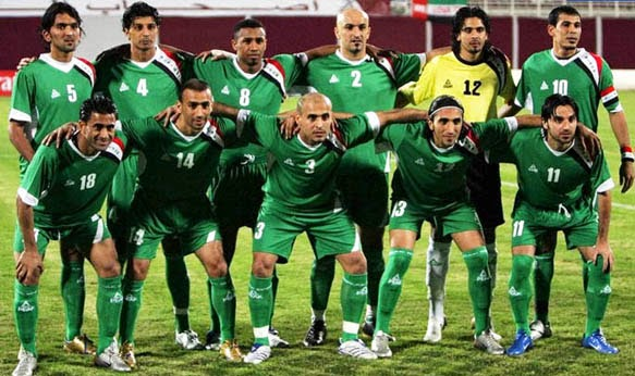 IRAQ NATIONAL FOOTBALL TEAM pictures download 583x346
