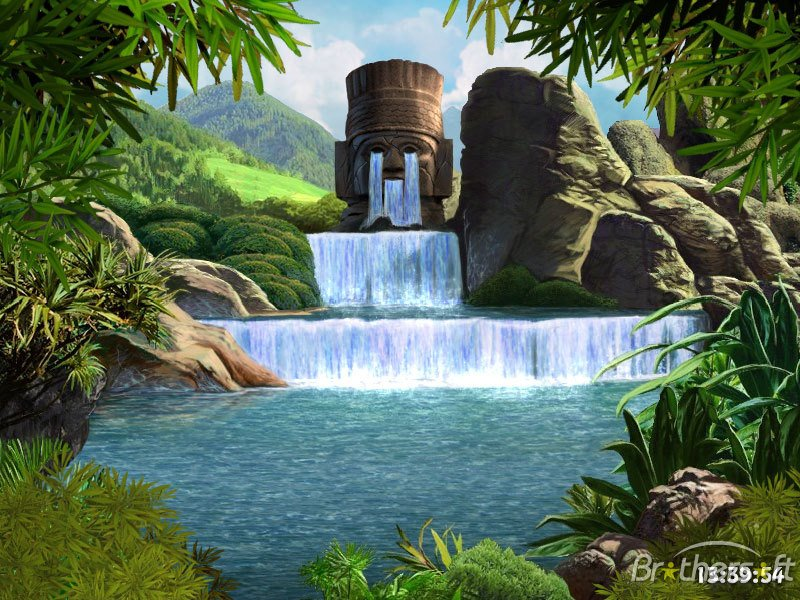 Download Waterfalls and Ancient Gods screensaver Waterfalls and 800x600