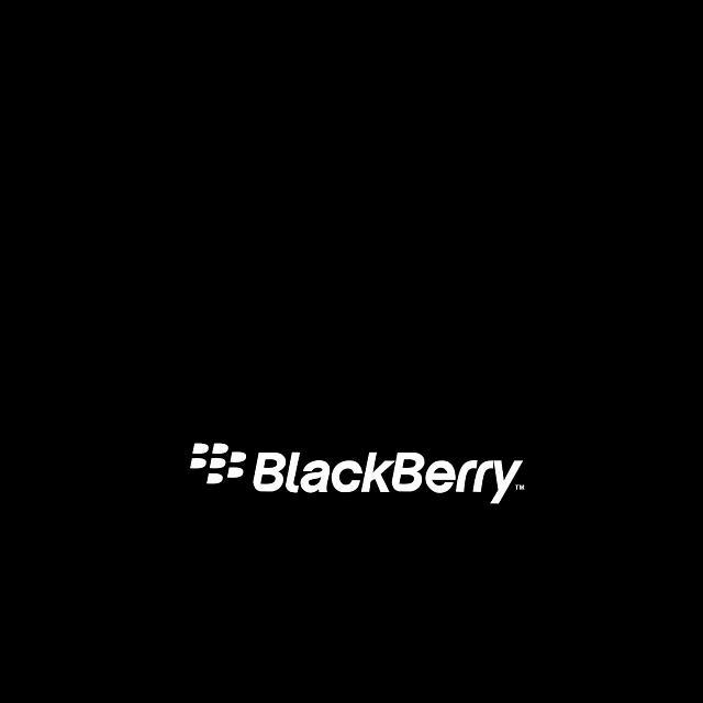 Simple dark theme Blackberry Logo Wallpaper for Passport   BlackBerry 640x640