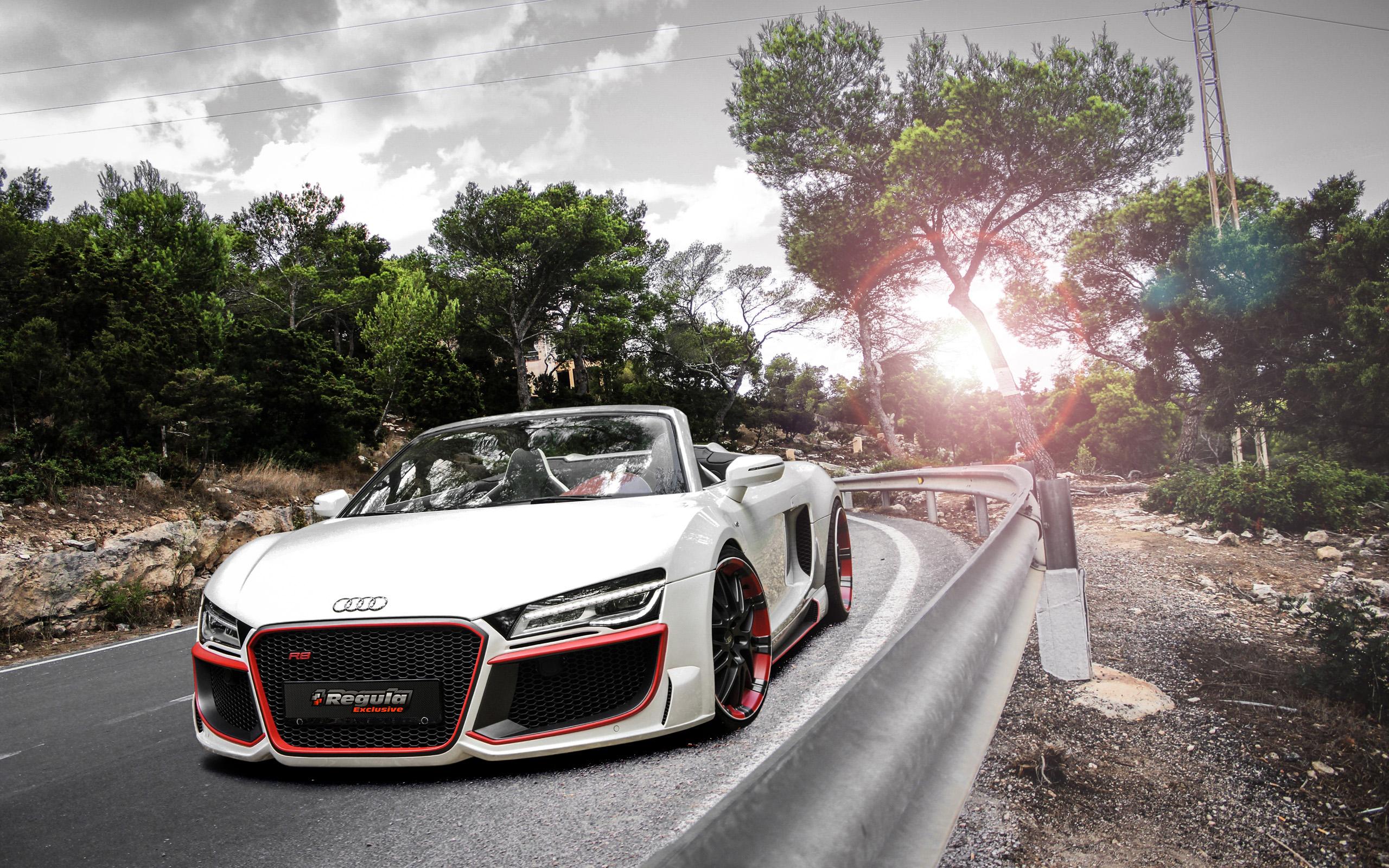 2014 Audi R8 V10 Spyder Regula Tuning Wallpapers HD Wallpapers 2560x1600