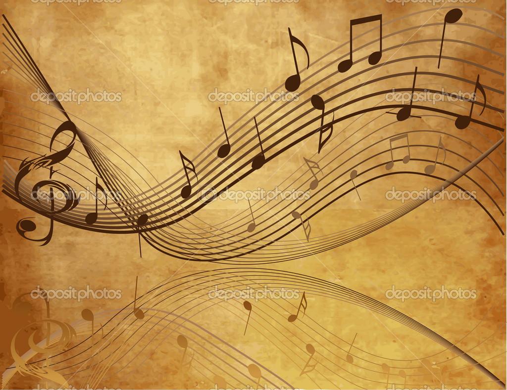 Music notes Stock Vector jelen80 Retro Music Backgrounds 1024x789