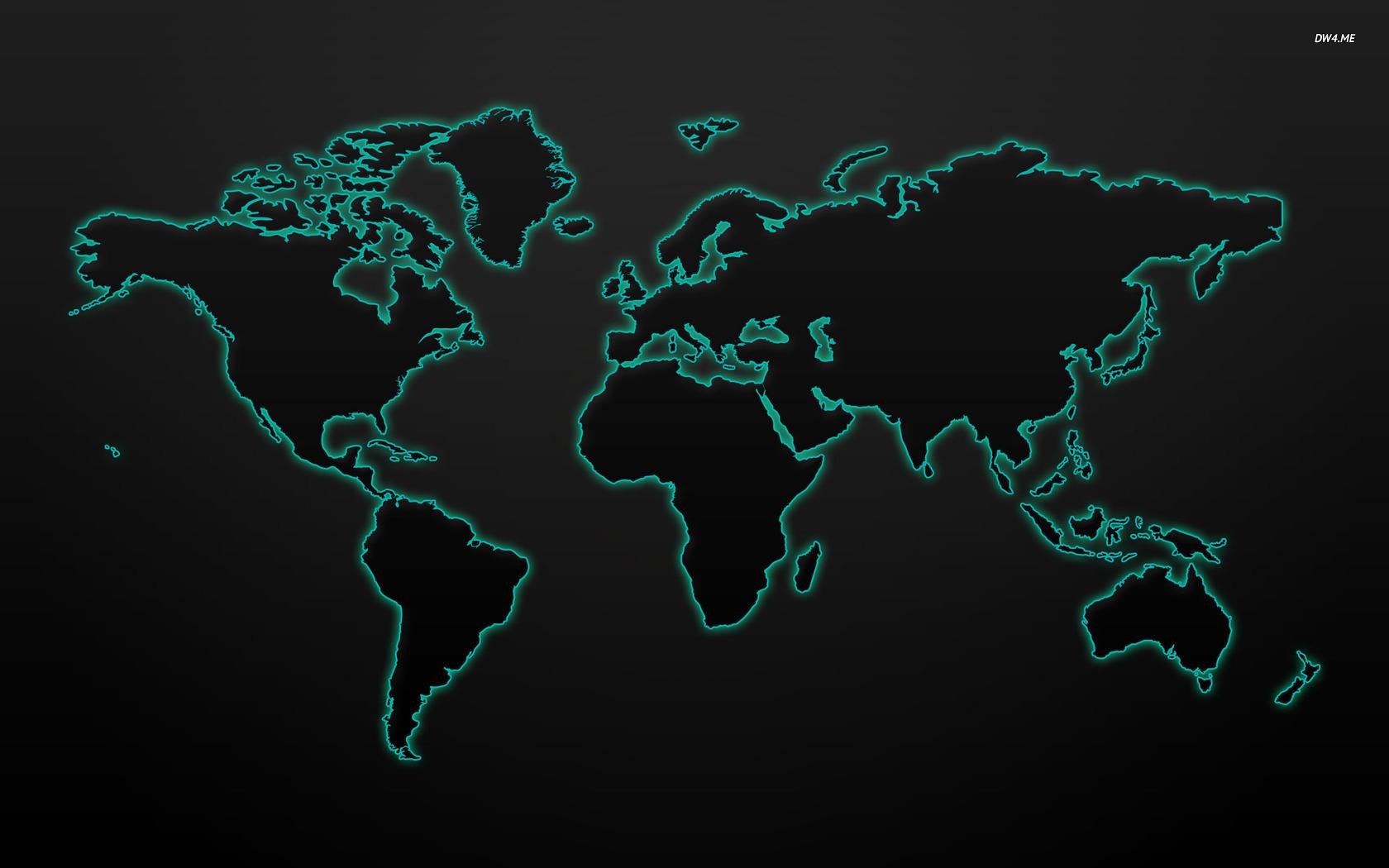 Glowing world map wallpaper   Digital Art wallpapers   322 1680x1050