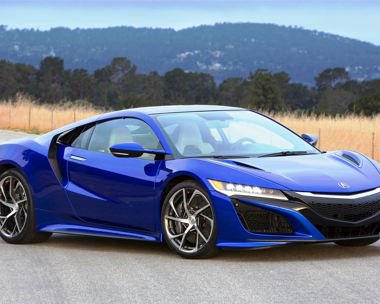 NSX blue luxury supercar Wallpaper 1280x1024 resolution wallpaper 1280x1024