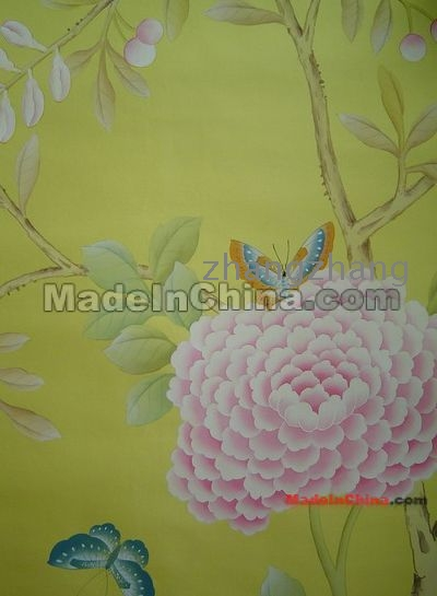 Silk Hand Painted Wallpaper Oriental Hand Painted Wallpaper Chinese 400x545