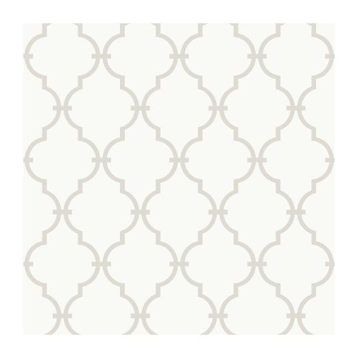 YS9102 Peek A Boo Graphic Trellis Wallpaper WhiteSoft Taupe Grey 522x522