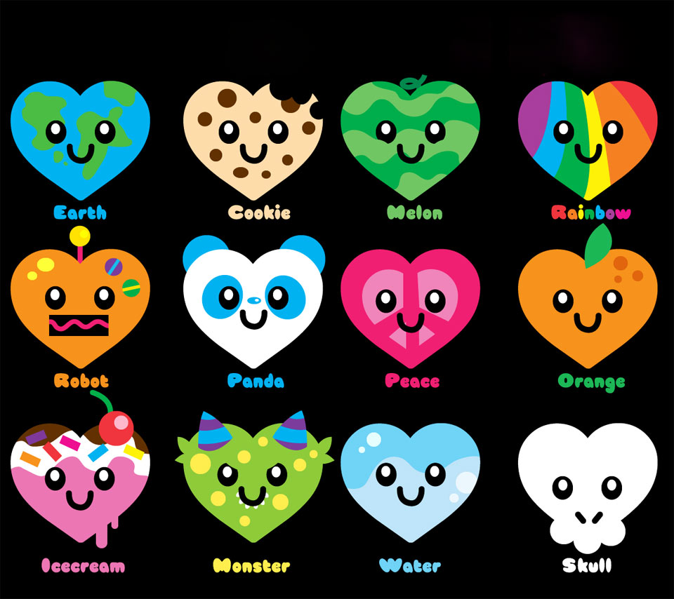 patternpatternscolorfulheartheartsheart shapefruitssnackscute 960x854