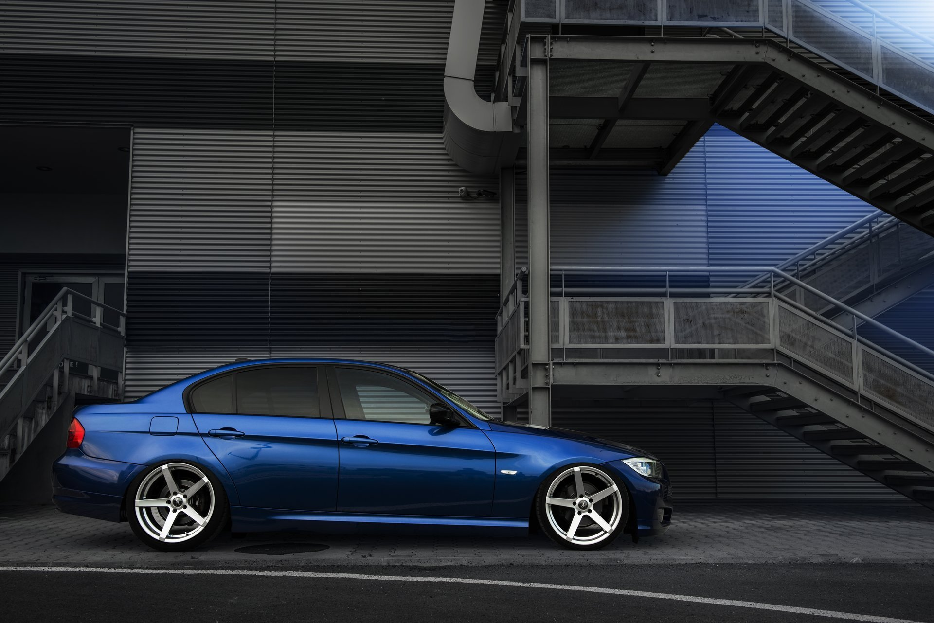 Bmw E Deep Concave Bmw Blue Tuning Drives Rollers Hd X