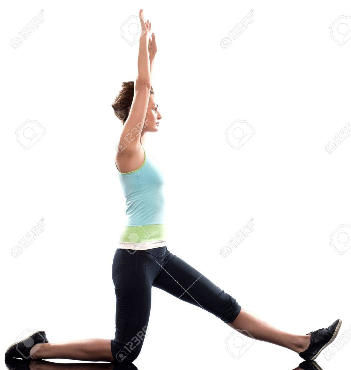 Stretching Workout Posture By A Woman On Studio White Background 1231x1300