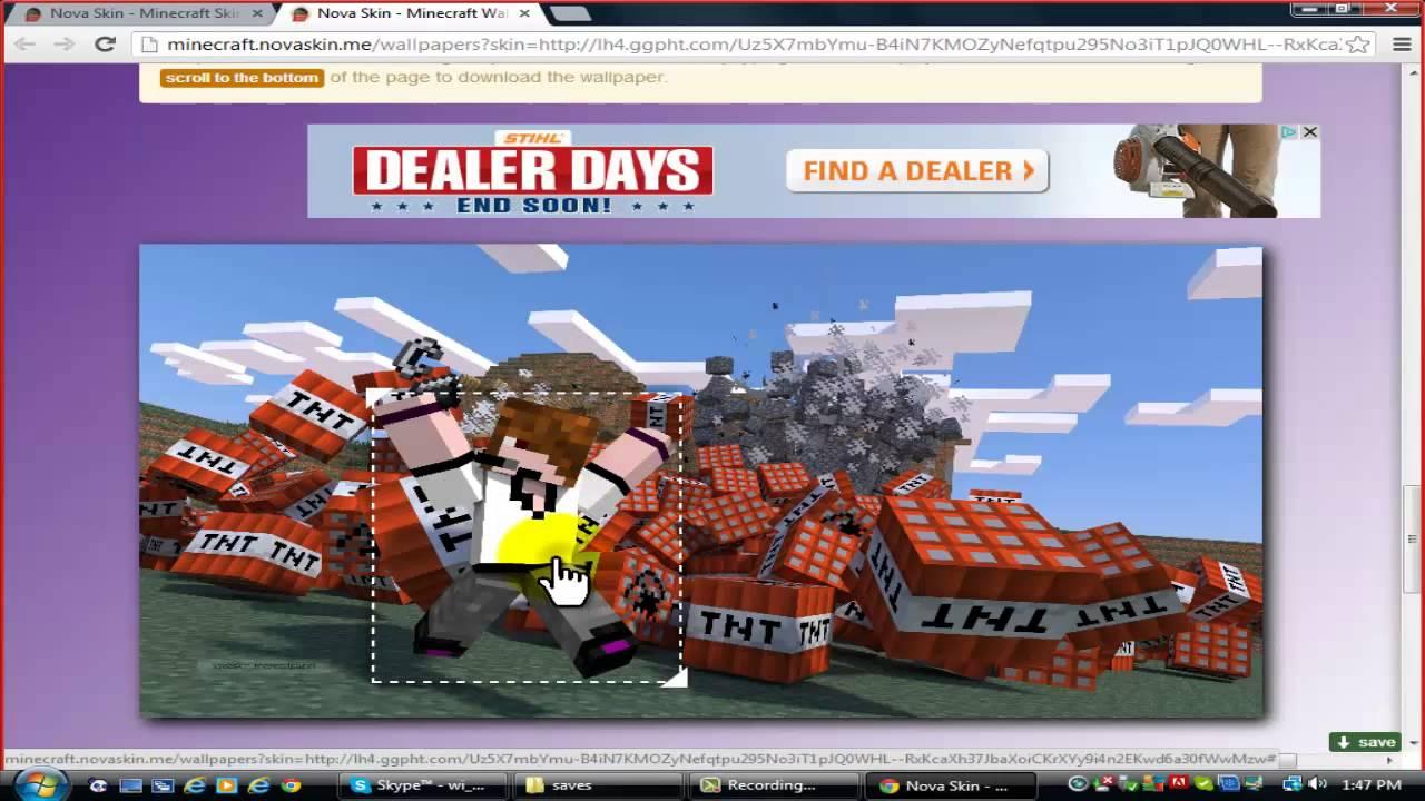 How to Create a Minecraft Desktop Wallpaper HD 1280x720
