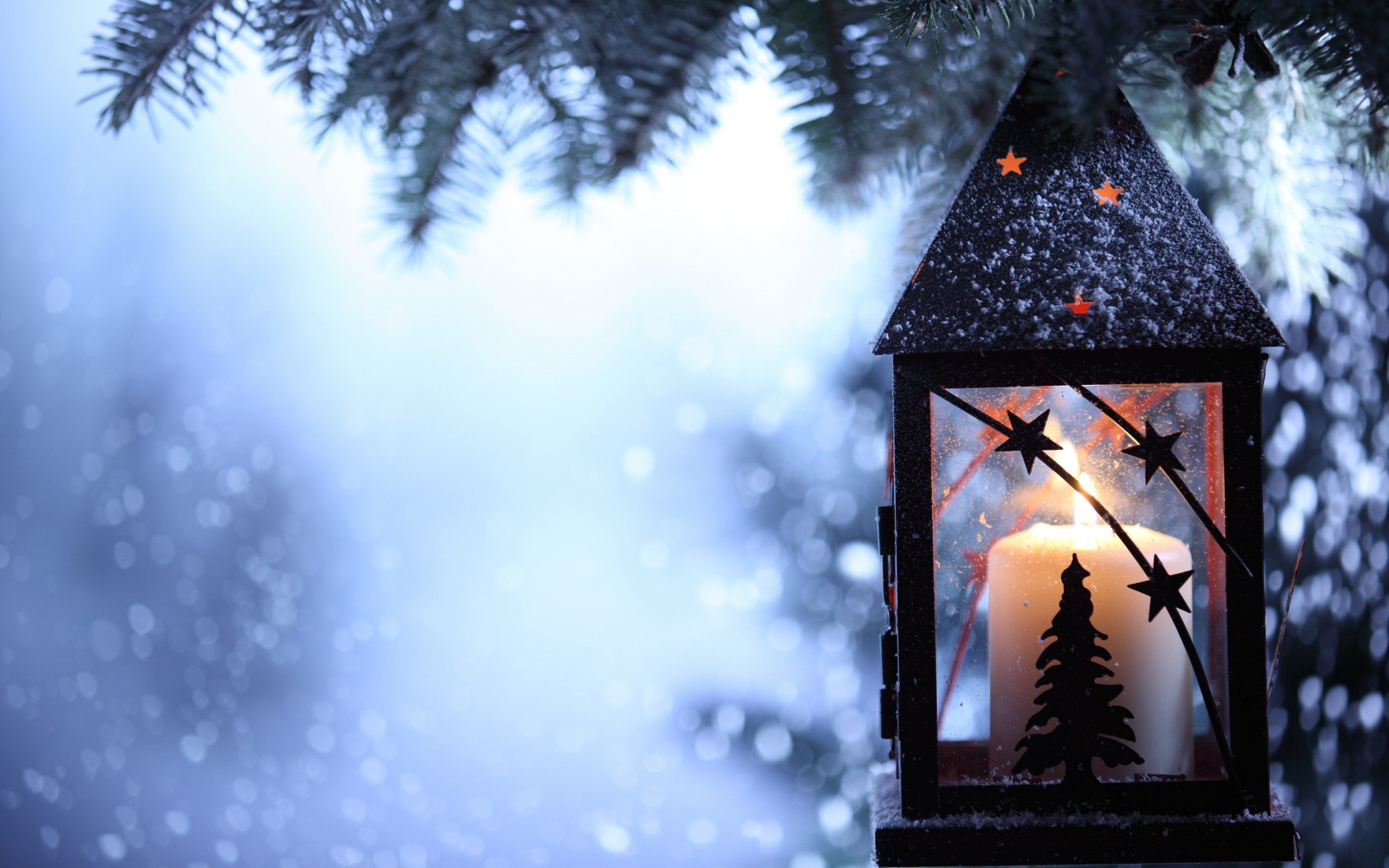 Christmas Candle HD Wallpaper 2880x1800