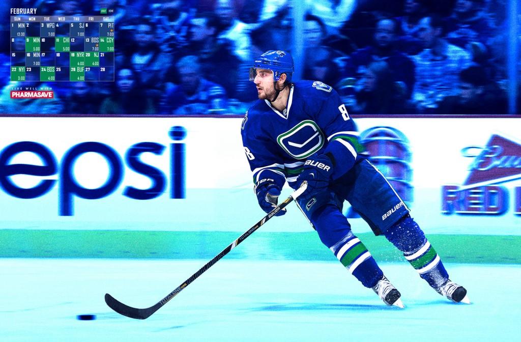 Vancouver Canucks February 2015 Calendar 1024x672