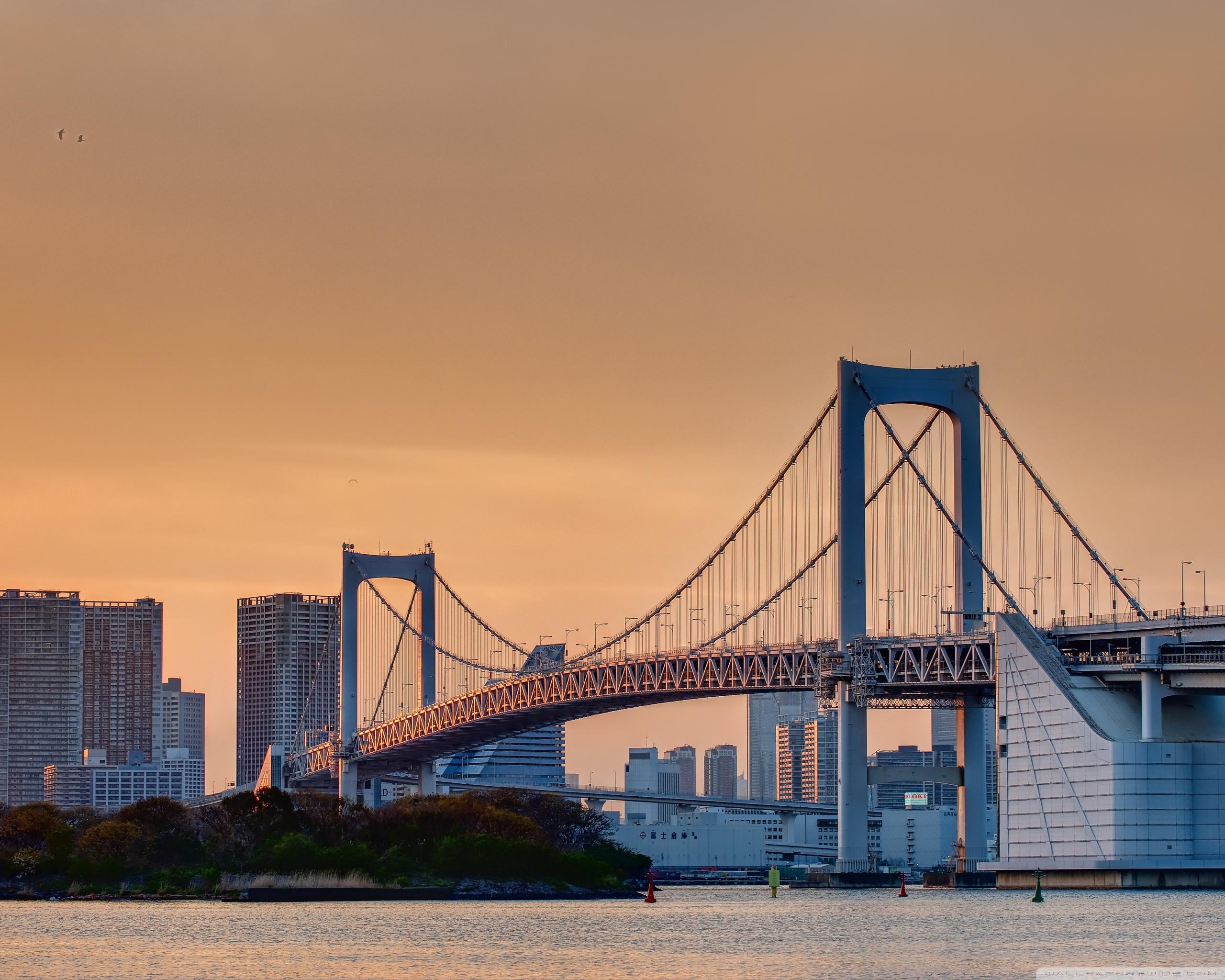 Odaiba Rainbow Bridge 4K HD Desktop Wallpaper for 4K Ultra HD 2560x2048