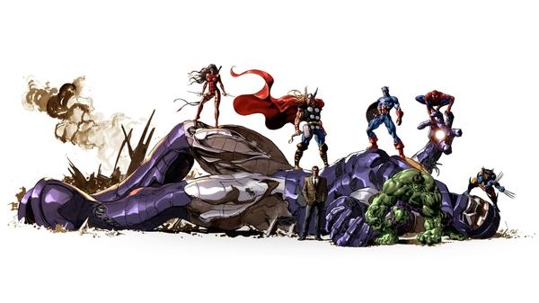 character hulk comic character comics thor spiderman captain america 600x337