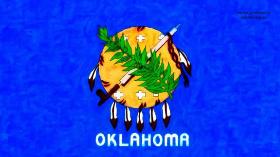 comportfolio viewfree desktop wallpaper background oklahoma ok flag 575x323
