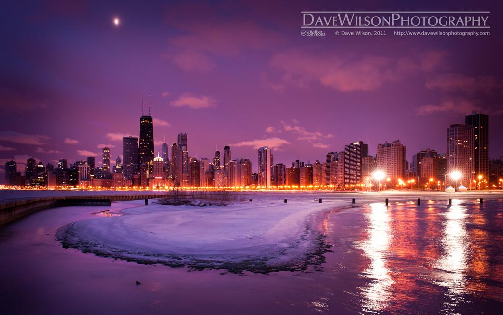 Chicago Skyline The skyline of Chicago Illinois seen on 1024x641