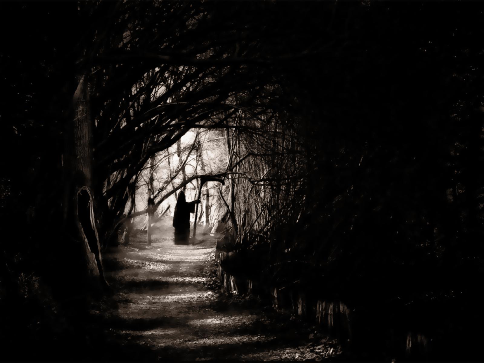 Dark Grim Reaper horror skeletons skull creepy l wallpaper 1600x1200 1600x1200