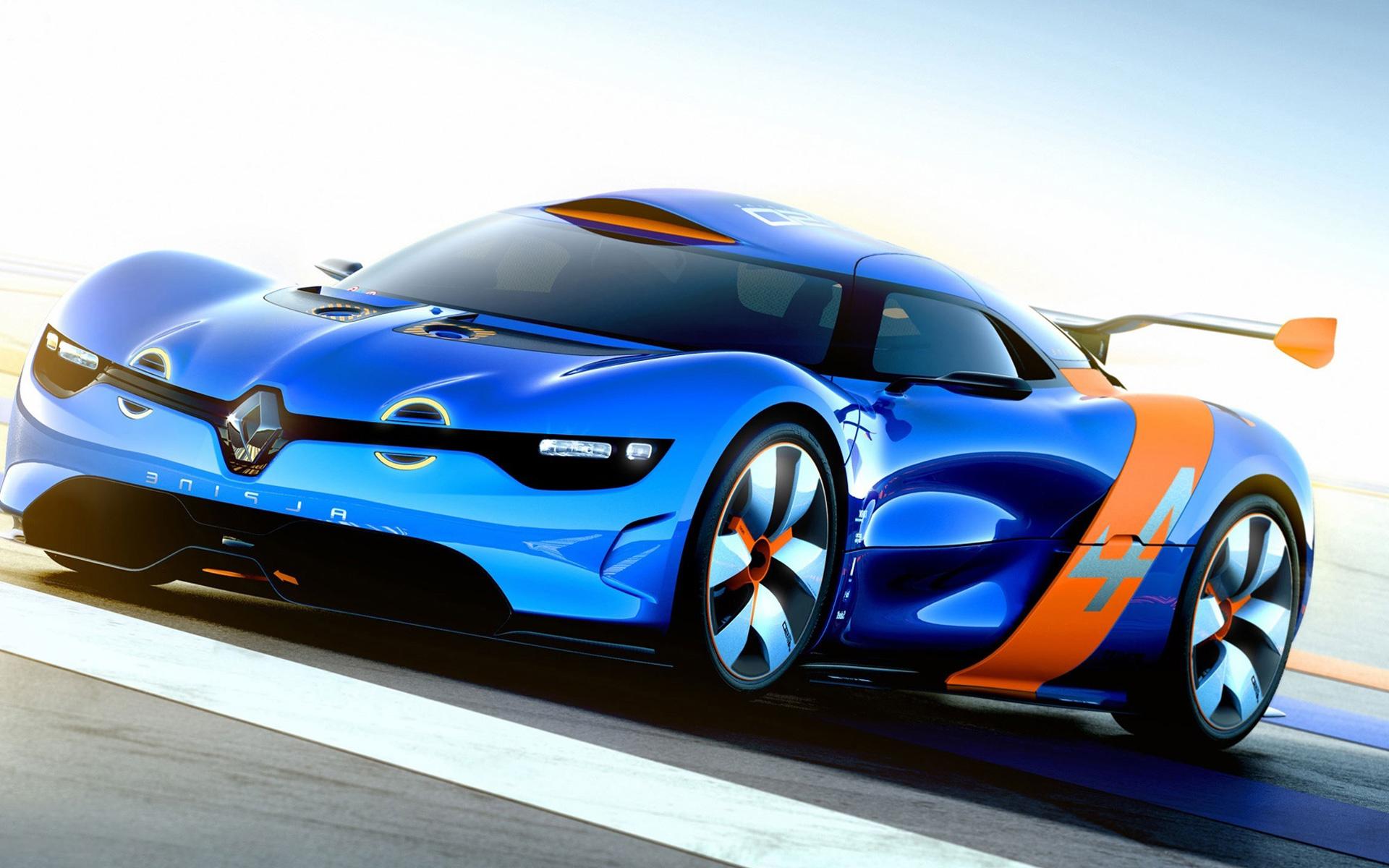 renault alpine blue sports car 12133 wallpaper wallpaper hd
