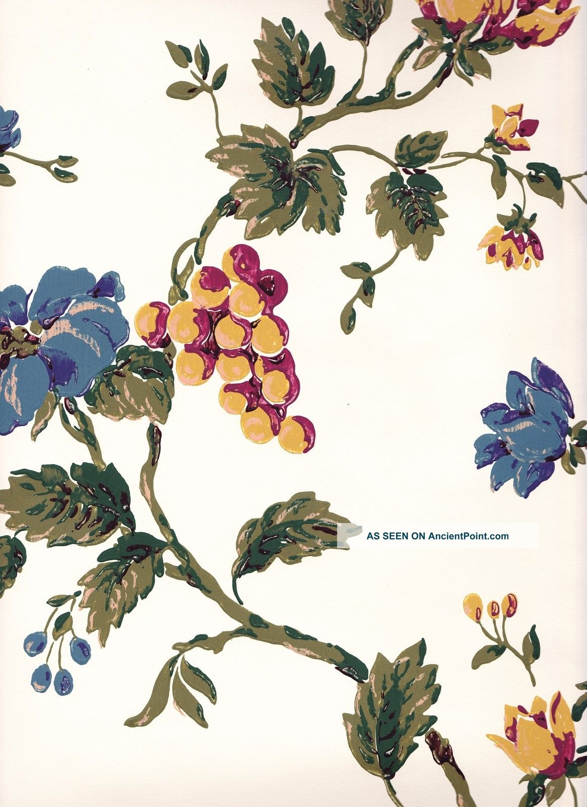 Historic Federal Reproduction Wallpaper Pineapple Fruit Vine Arts 1165x1600