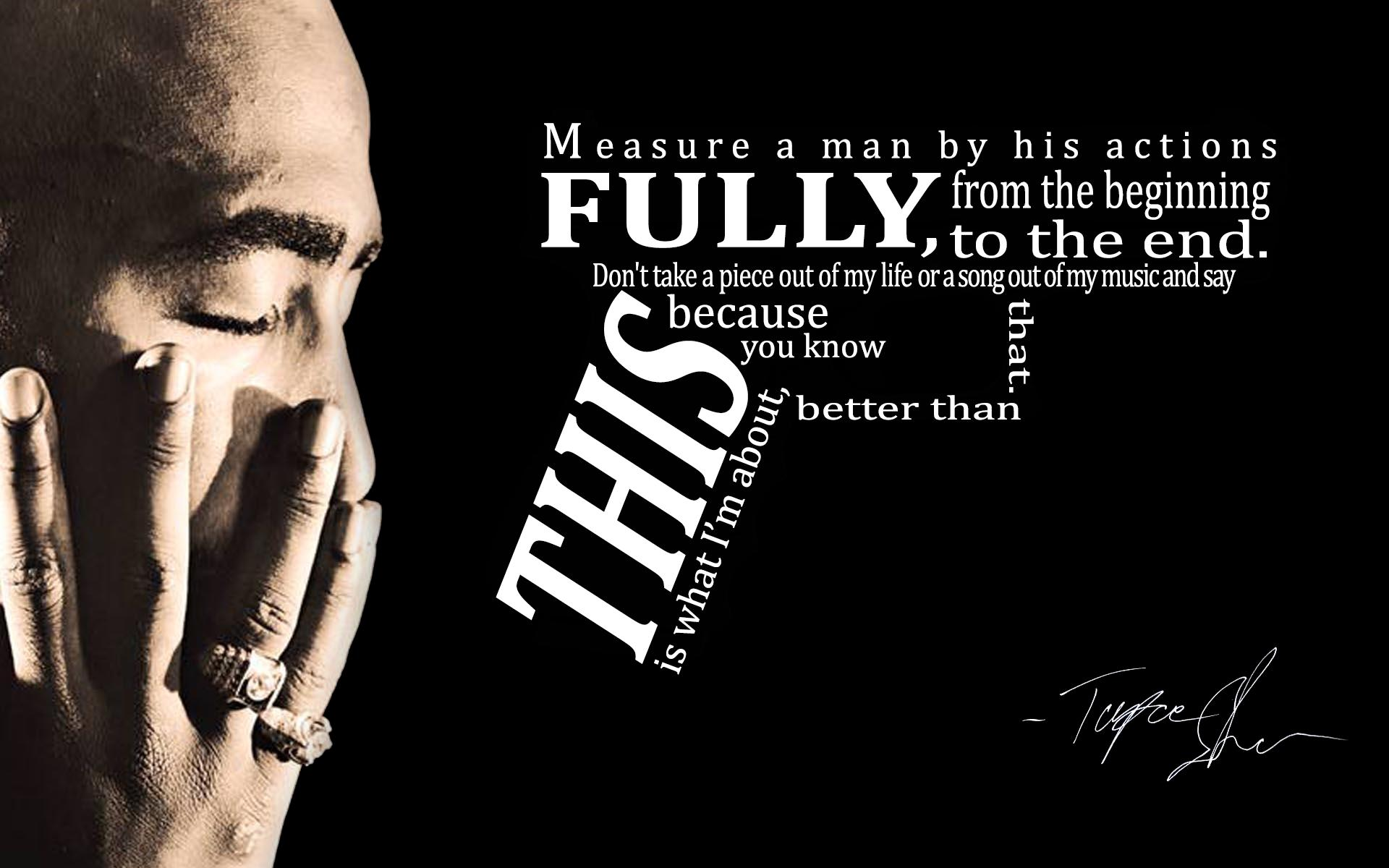 Tupac rap gangsta text quotes d wallpaper 1920x1200 45929 1920x1200