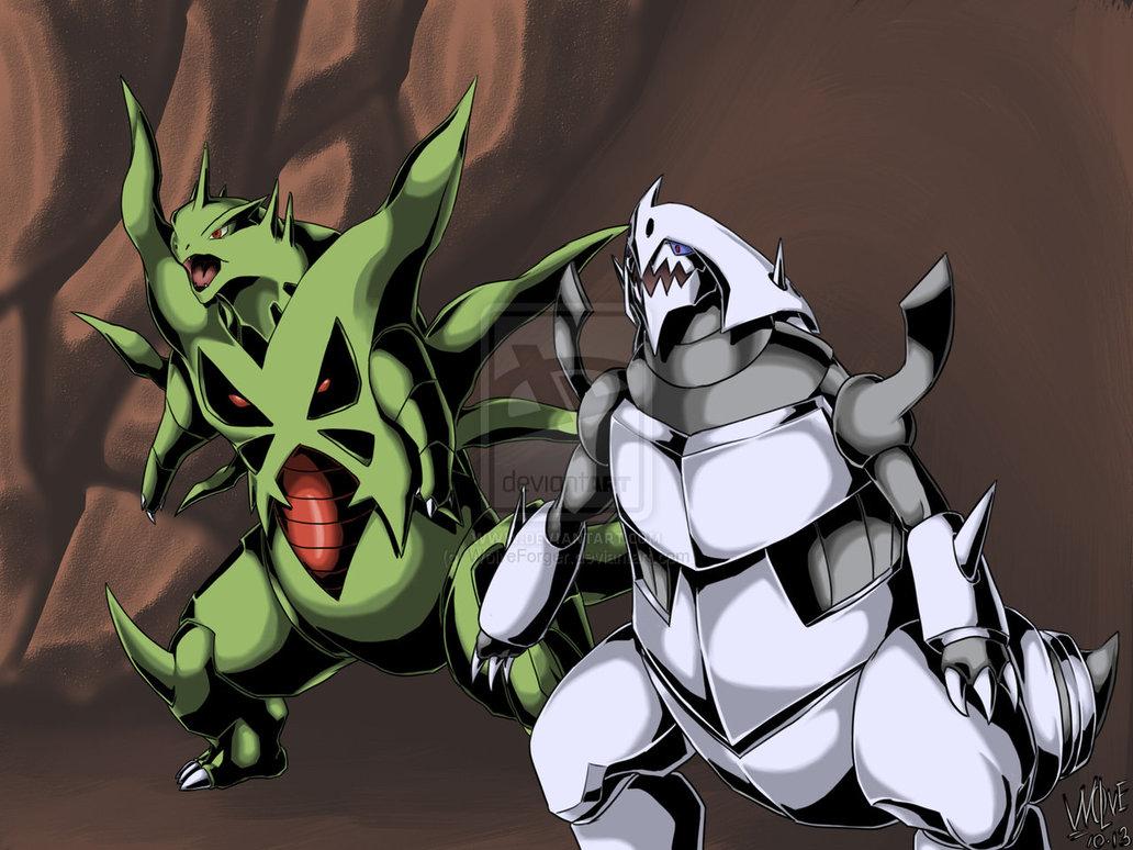 Mega Tyranitar X Aggron by WolveForger 1032x774