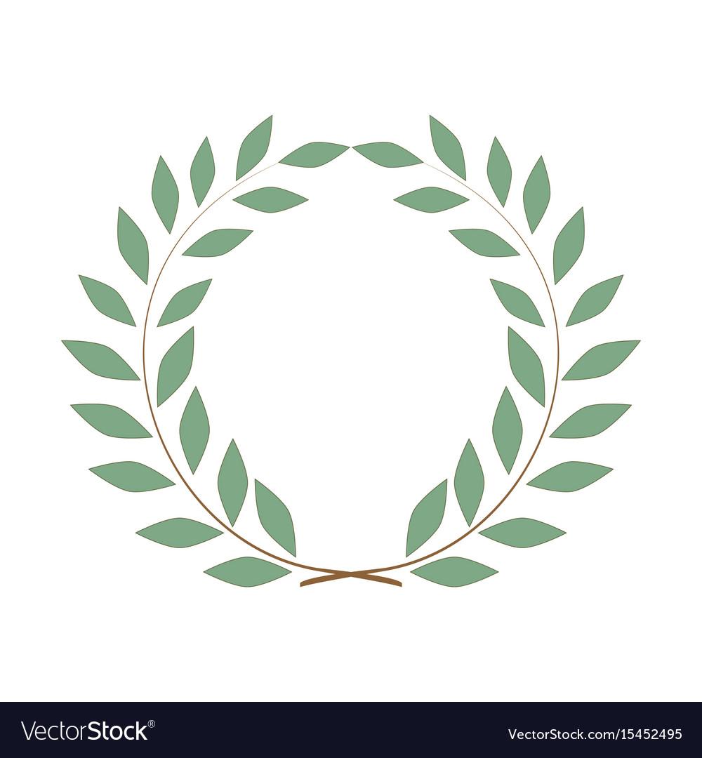Laurel wreath olive reward on white background Vector Image 1000x1080