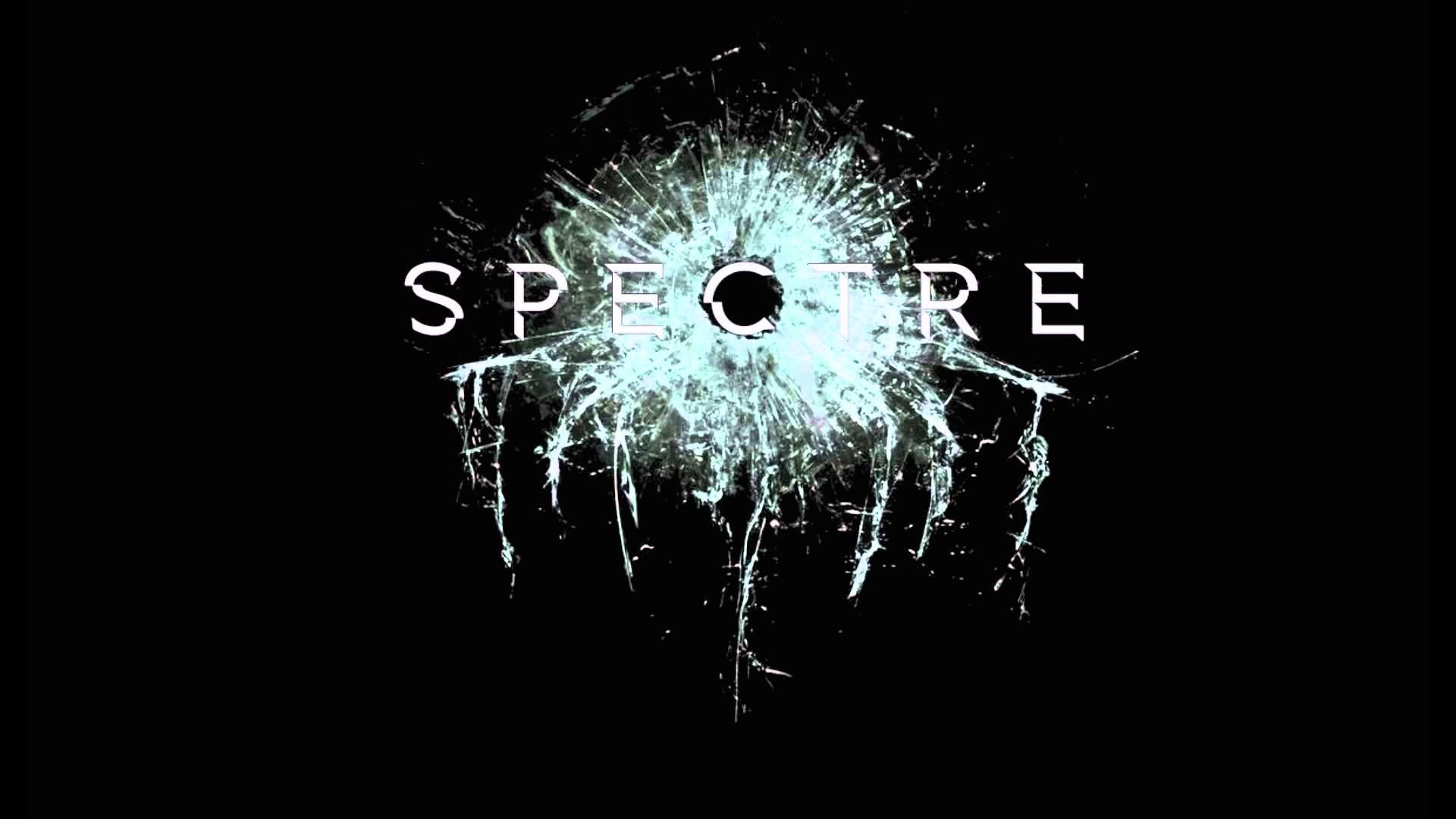 Spectre 007 Movie Logo Wallpaper HD Black BAckground 1920x1080