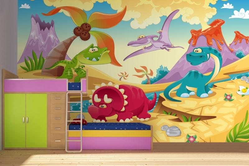 Dinosaur Bedroom Wallpaper Dinosaur Childrens Wallpaper 800x533
