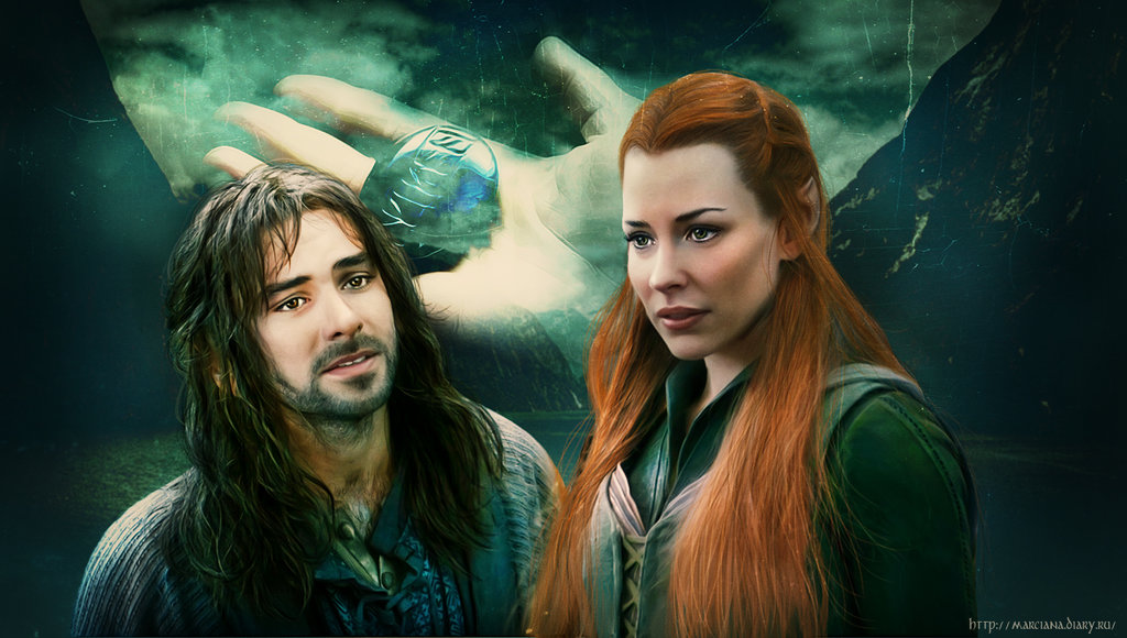 Kili and Tauriel Wallpaper 1024x580