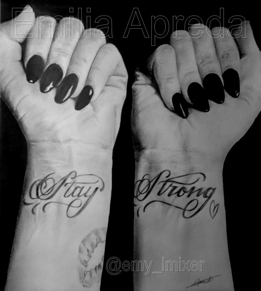 Demi Lovatos Stay Strong Wrist Tattoos by emyapreda 846x945