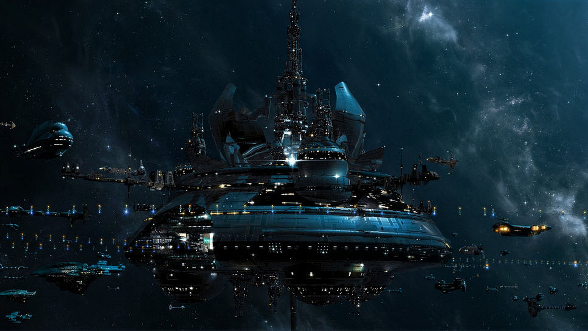 fantasy sky planets