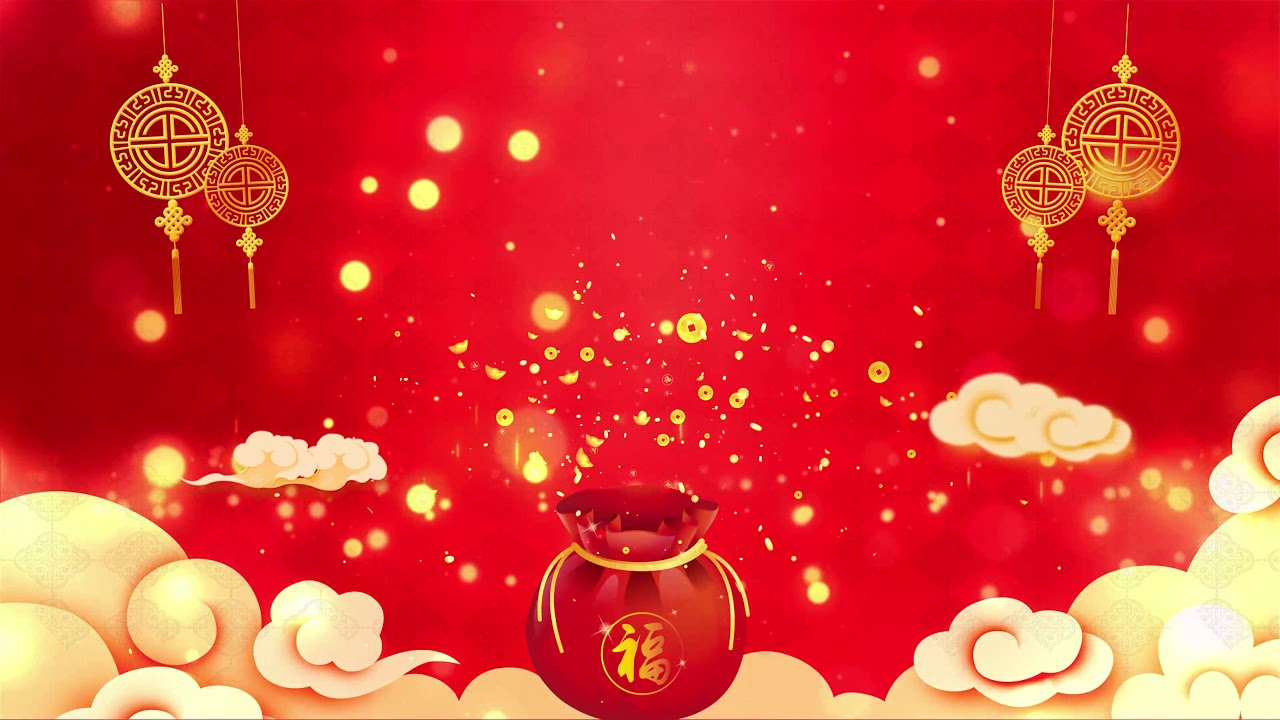 2020 Chinese New Year Spring Festival Red Annual Meeting 4K 1280x720