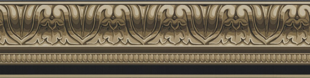 Details about Wallpaper Border Taupe Black Faux Crown Molding 1000x253