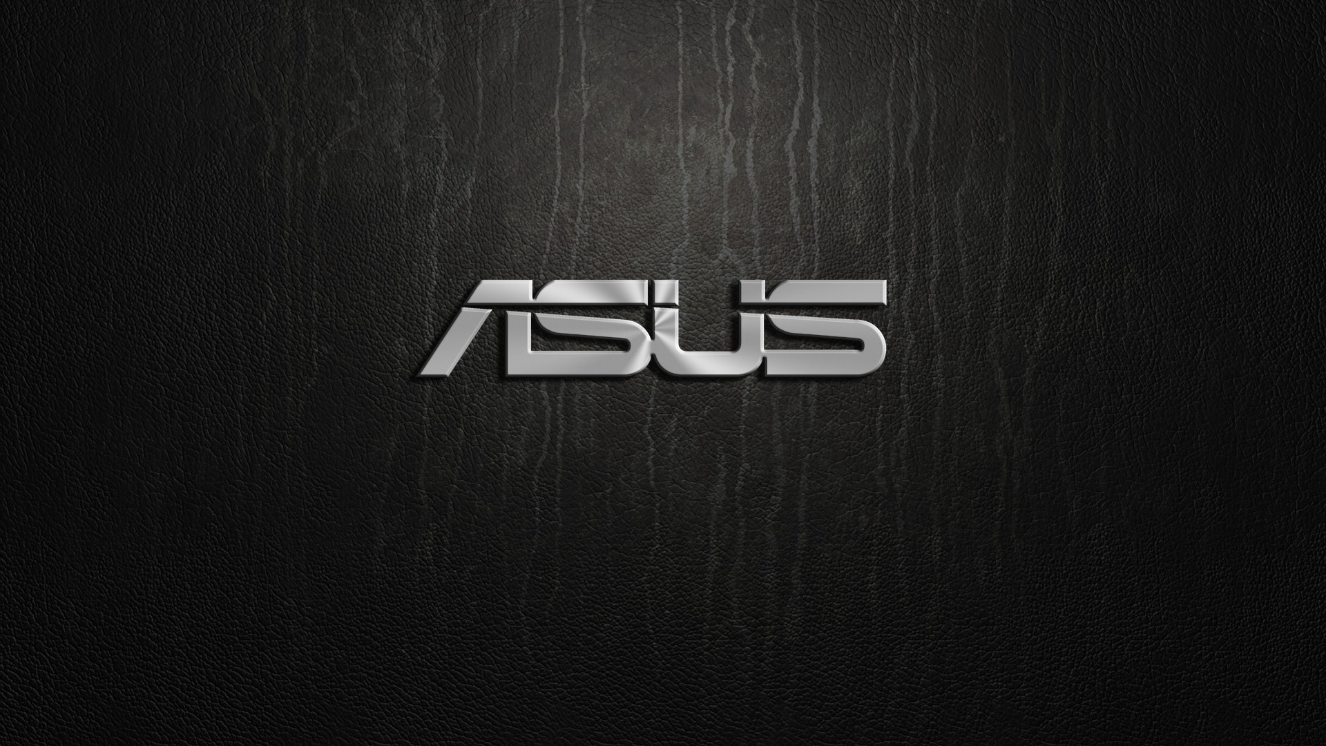 Asus silver logo on black background   HD wallpaper 1920x1080
