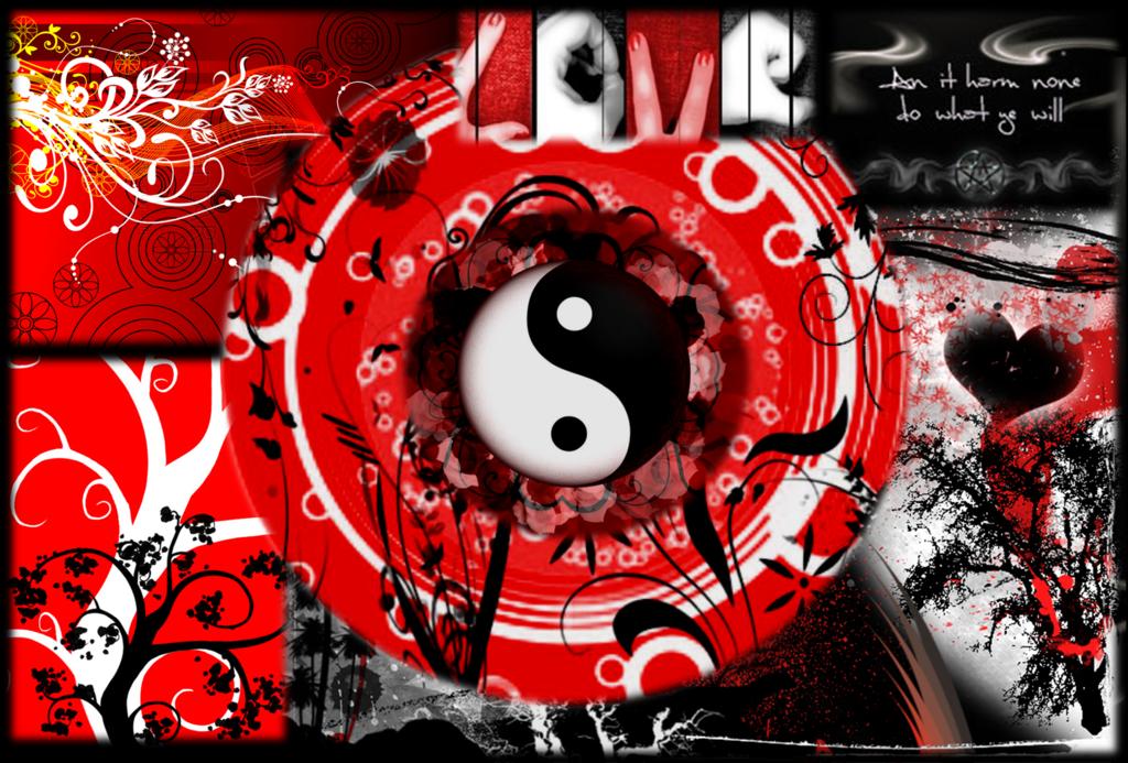 Black Red and White Wallpaper by DeafbutforMusic 1024x693