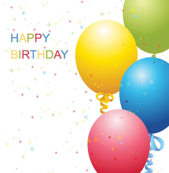 Birthday Balloon Backgrounds 585x600