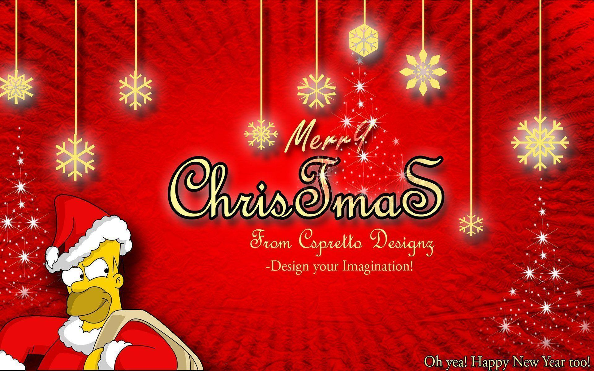Simpsons Christmas Wallpapers - Wallpaper Cave