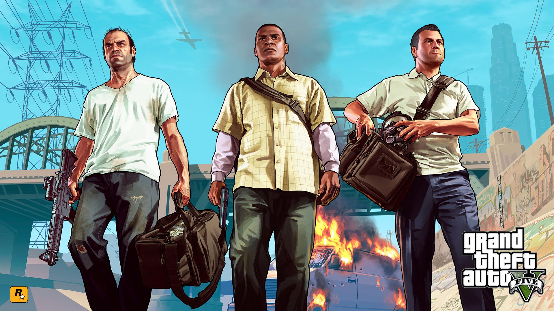 Wallpaper Gta 5 Grand Theft Auto V Rockstar 2 Wallpapers 1920x1080