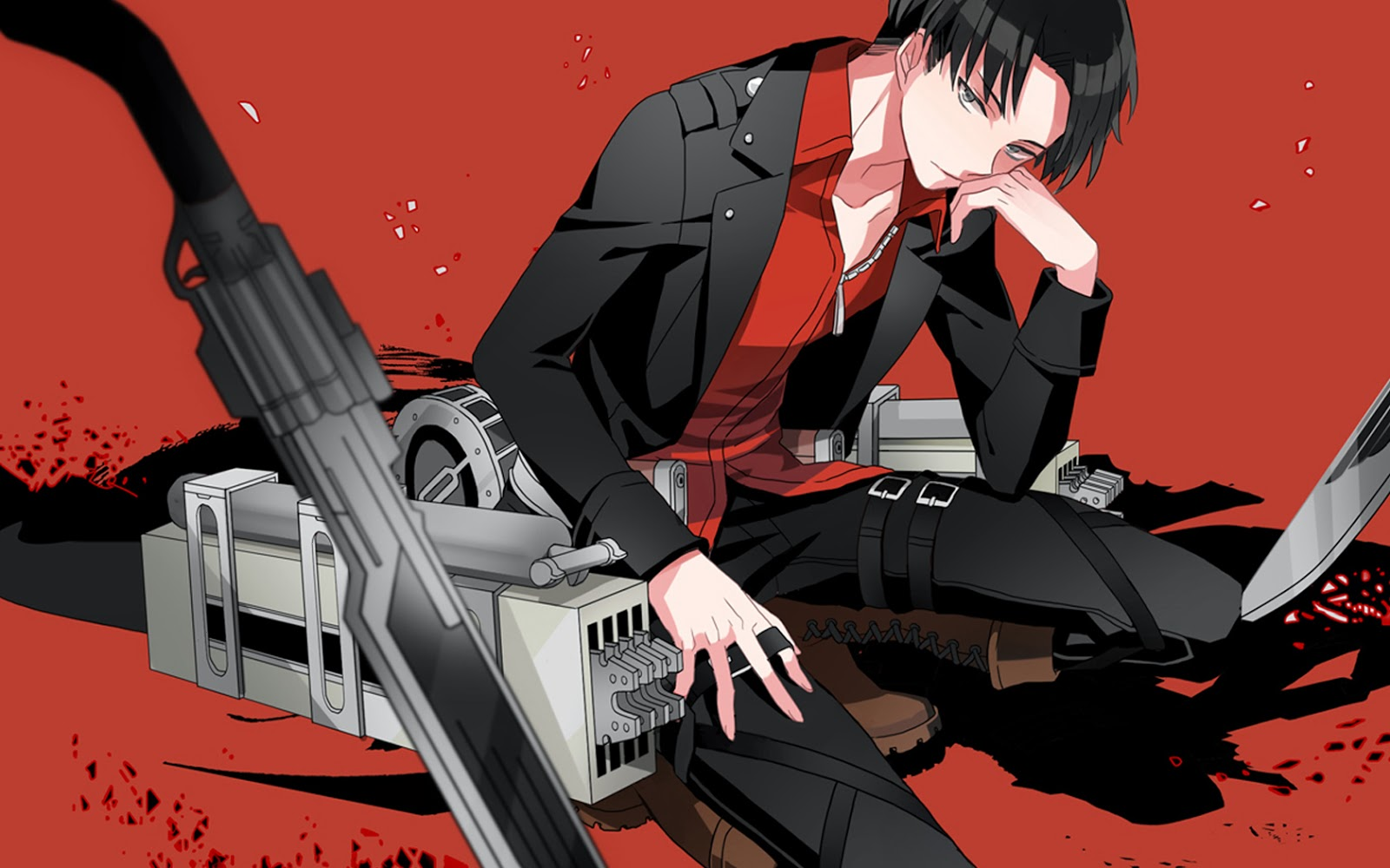 captain levi 3d maneuver gear attack on titan shingeki no kyojin anime 1600x1000