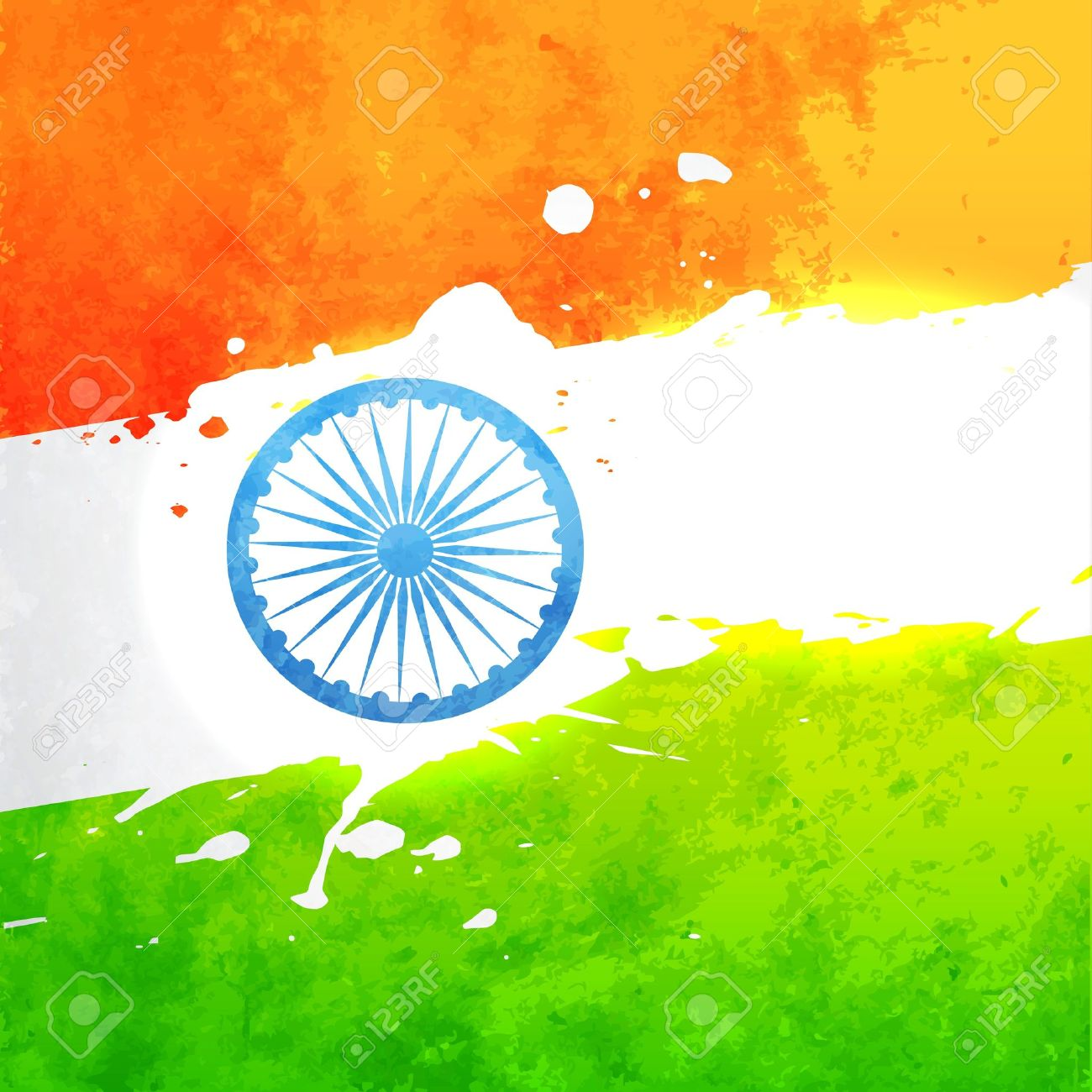 Indian Flag In Grunge Style Vector Background Royalty 1300x1300