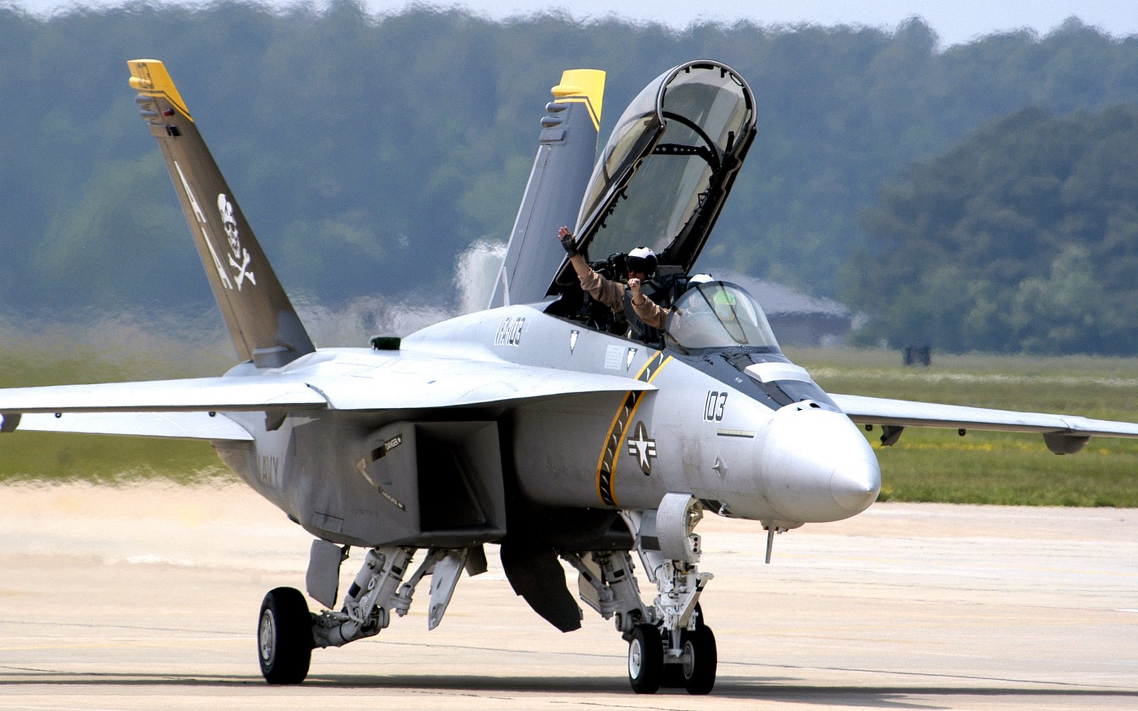 Free Download Jet Airline F 18 Super Hornet Wallpaper 1600x1000