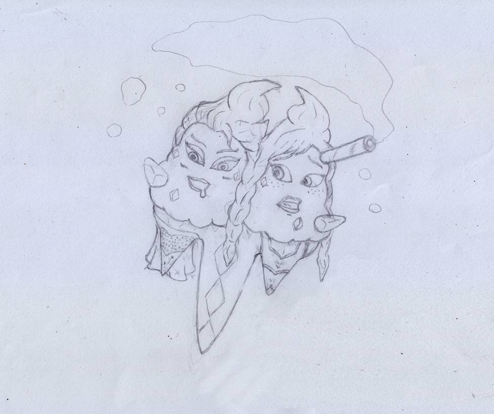 SKETCH Anna and Elsa Vanilluxe TF by NADMH 976x818