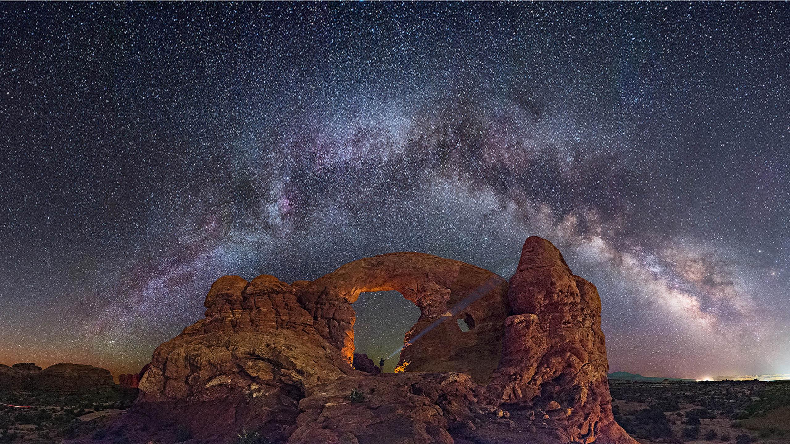 Star Sky Capitol Reef National Park Utah Wallpaper Download Hd 2560x1440