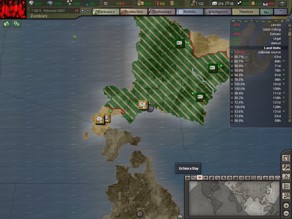 HOI3 TFH Zombie Mod Fixed Version   Hearts of Iron III Their 1024x768