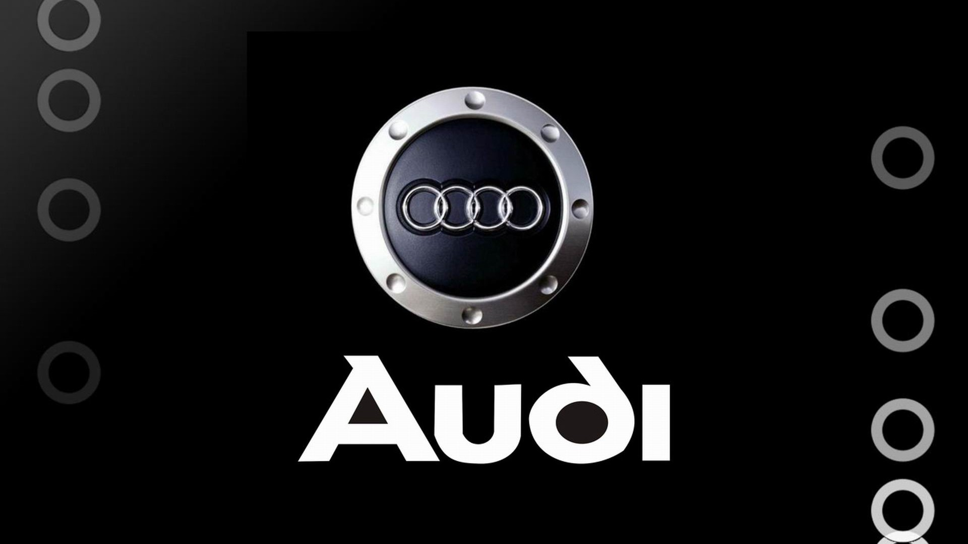Audi Brand Logo Design Background HD Wallpaper Design 1920x1080