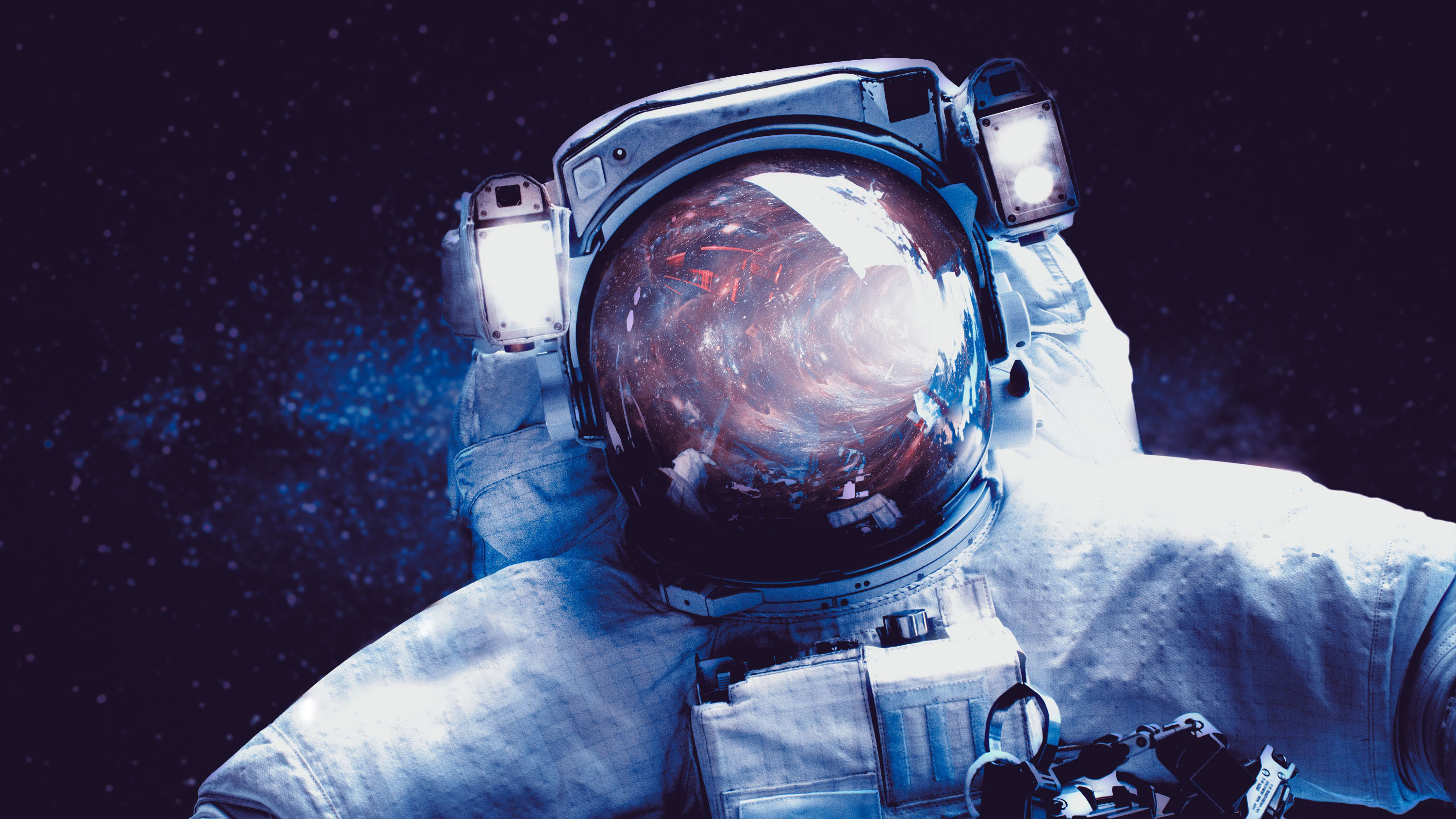 Wallpaper of Astronaut Space Art Sci Fi background HD image 3000x1688