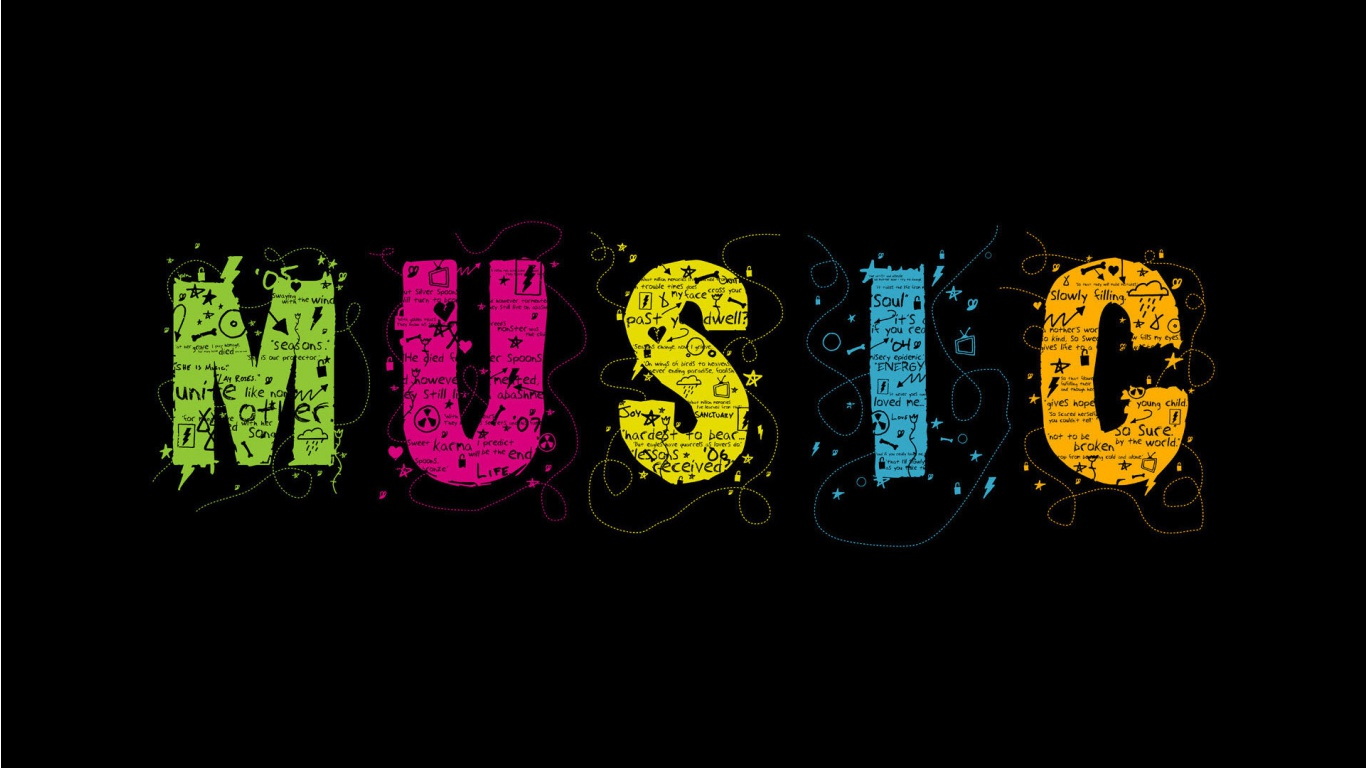 Colors music wallpaper in 1366x768 resolution Music Wallpapers 1366x768