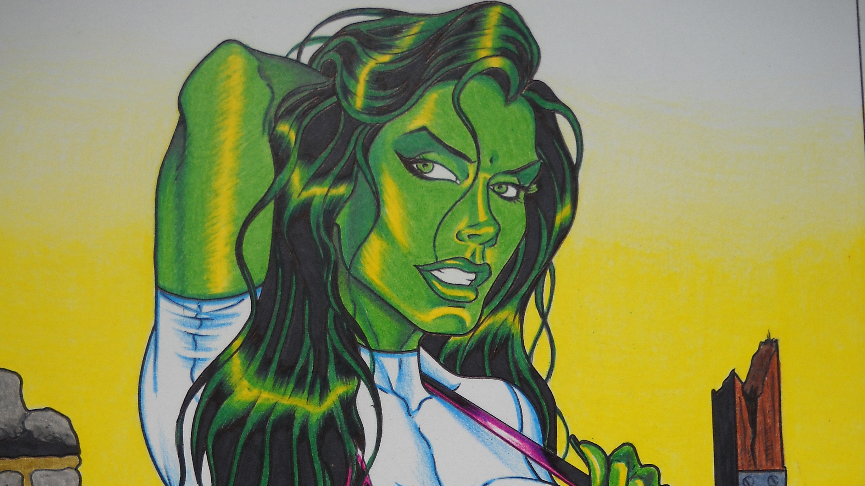 She Hulk Wallpaper Desktop 2750x1547