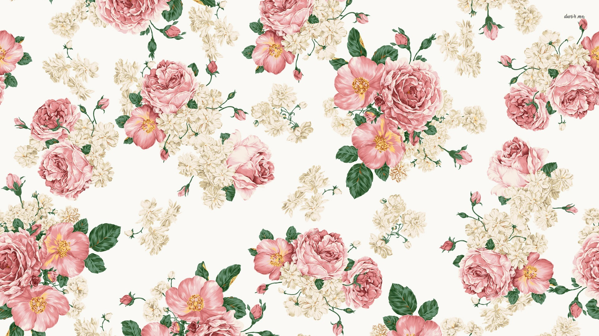 47 Vintage Pink Rose Wallpaper On Wallpapersafari